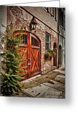 Rustic Door Greeting Card