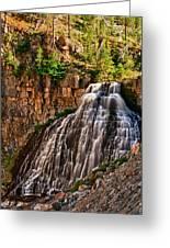 Rustic Falls Greeting Card