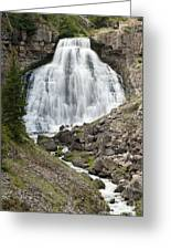 Rustic Falls Yellowstone Greeting Card