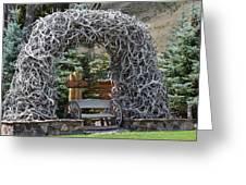Rustic Inn In Jackson Wyoming Greeting Card