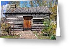 Rustic Pioneer Log Cabin - Salt Lake City Greeting Card