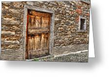 Rustic Stone House With Old Greeting Card