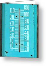 Rustic Thermometer Greeting Card