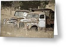 Rustic Trucks Greeting Card