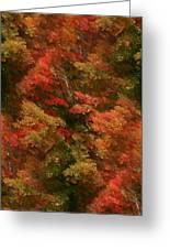 Rustling Autumn Leaves Greeting Card