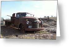 Rusty Abandoned Chevy Truck Greeting Card