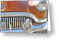 Rusty Abandoned Old Buick Eight Greeting Card