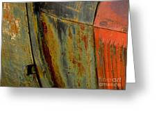 Rusty Abstract Greeting Card