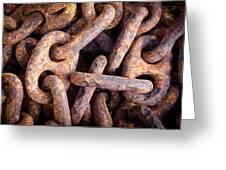 Rusty Anchor Chains In Key West Greeting Card