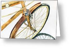 Rusty Beach Bike Greeting Card by Norma Gafford