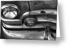 Rusty Cadillac Detail Greeting Card