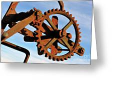 Rusty Gears Mechanism Greeting Card