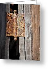 Rusty Hinge Greeting Card