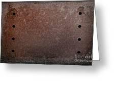 Rusty Iron Greeting Card