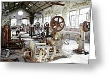 Rusty Machinery Greeting Card
