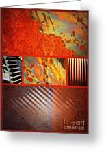 Rusty Metal Canvas Greeting Card