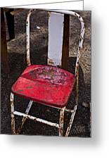 Rusty Metal Chair Greeting Card by Garry Gay
