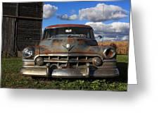 Rusty Old Cadillac Greeting Card