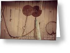 Rusty Saw Blades Greeting Card