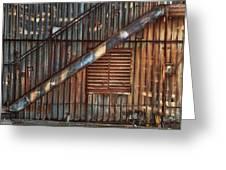 Rusty Stairway Greeting Card by Brenda Bryant