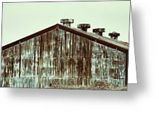 Rusty Tin Factory Building Greeting Card