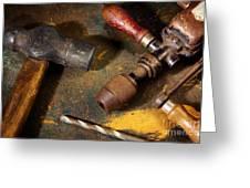 Rusty Tools Greeting Card