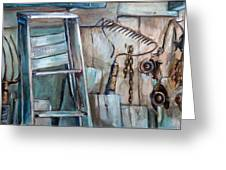 Rusty Tools Greeting Card by Jean Groberg