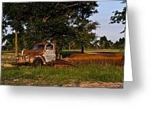 Rusty Truck And Tank Greeting Card by Douglas Barnett