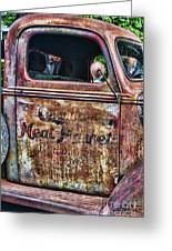Rusty Truck Door Greeting Card