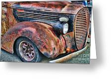 Rusty Truck Hood And Fender Greeting Card