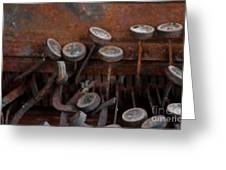 Rusty Typewriter Greeting Card