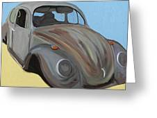 Rusty V.w. Bug Greeting Card