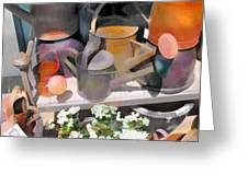 Rusty Watering Cans Greeting Card