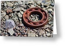 Rusty Wheel Bearing Greeting Card