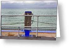 Ryde On The Solent Wharf Greeting Card