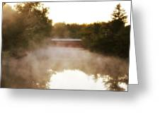 Sachs Covered Bridge In The Mist Greeting Card