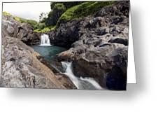 Sacred Pool Falls Greeting Card