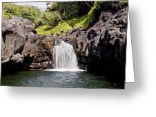 Sacred Pool Waterfall Greeting Card