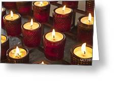 Sacrificial Candles Greeting Card