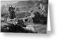 Sadler: Fishing, 1875 Greeting Card