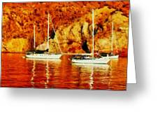 Safe Habor At Sunset Greeting Card