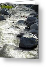 Safely Through The Boulders Greeting Card