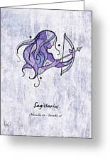 Sagittarius Artwork Greeting Card