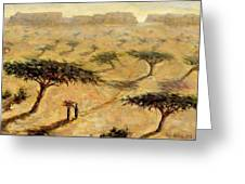 Sahelian Landscape Greeting Card by Tilly Willis