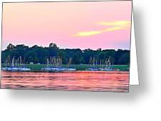 Sail Boats Pretty In Pink  Greeting Card