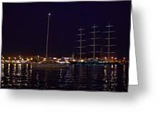 Sailboat And Maltese Hawk Greeting Card