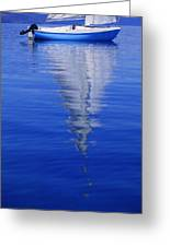 Sailboat On Water Greeting Card