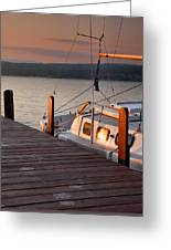 Sailboat Sunrise II Greeting Card by Steven Ainsworth