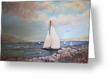 Sailboating In The Carribean Greeting Card