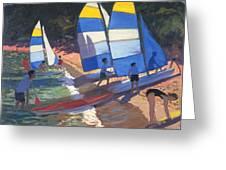 Sailboats South Of France Greeting Card